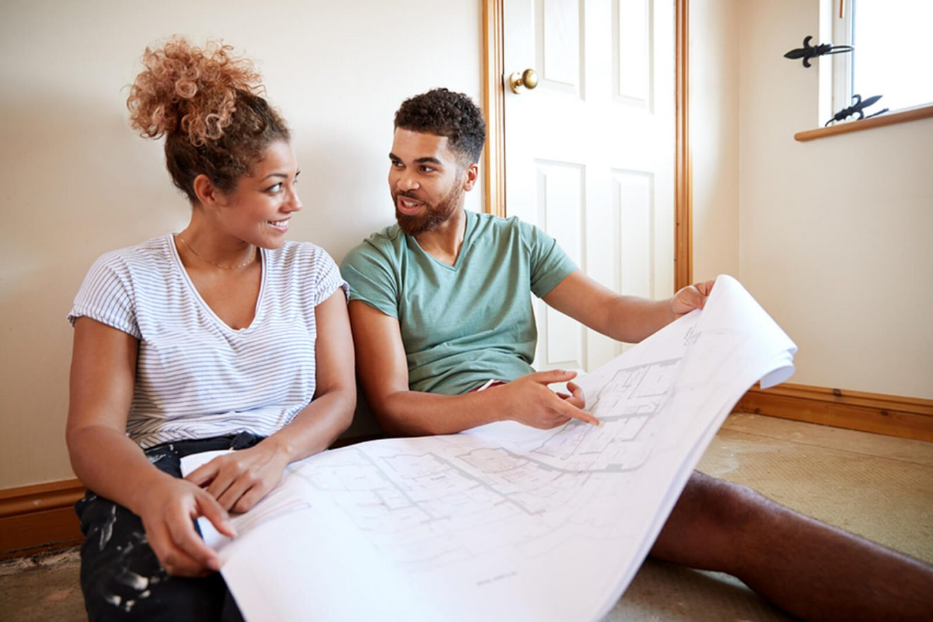 Couple Planning Home Renovations