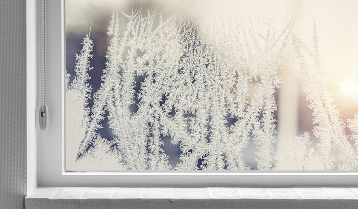 Frost inside of double pane windows