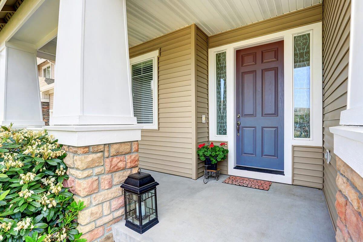front door to lower utility bills