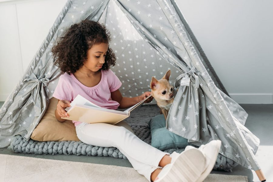 teepee reading nook girl