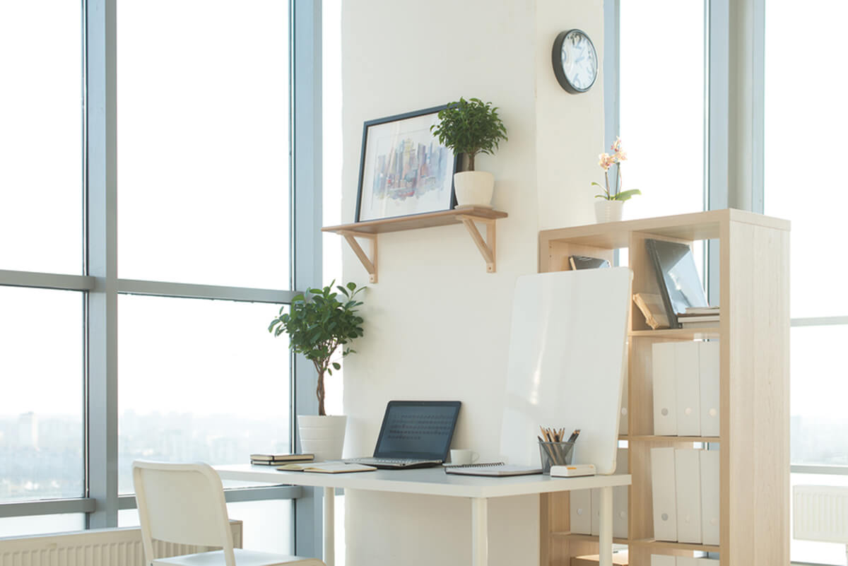 home office natural lighting