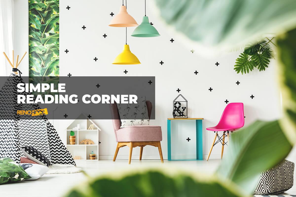 simple reading corner